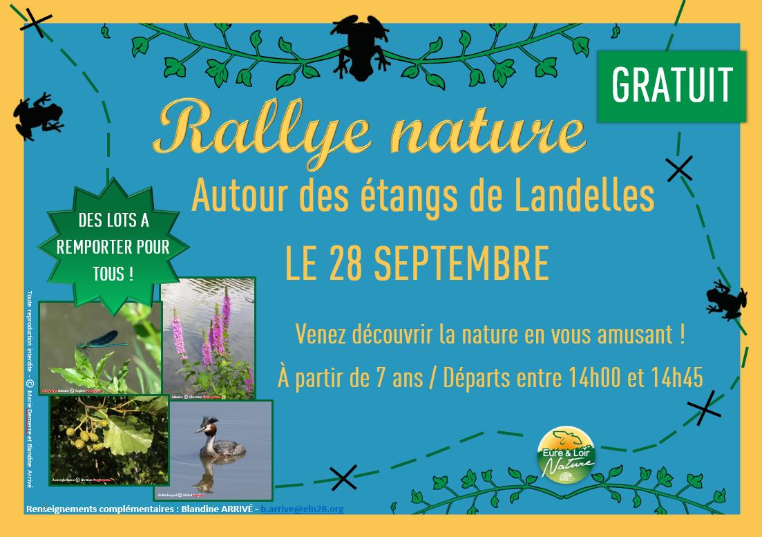 Affiche Rallye nature 28 septembre