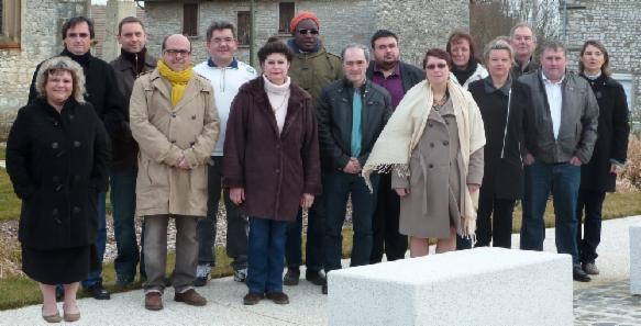 de gauche à droite Doriane GODARD, Yves LEIPERT ,David CORNUEJOLS,  Florence JOUBERT,   Marilyn BARATHON,Gilles GERBOIS,  Emmanuel MARTIN-GBEASSOR,  Françoise COLIN-MANDERSCHEID