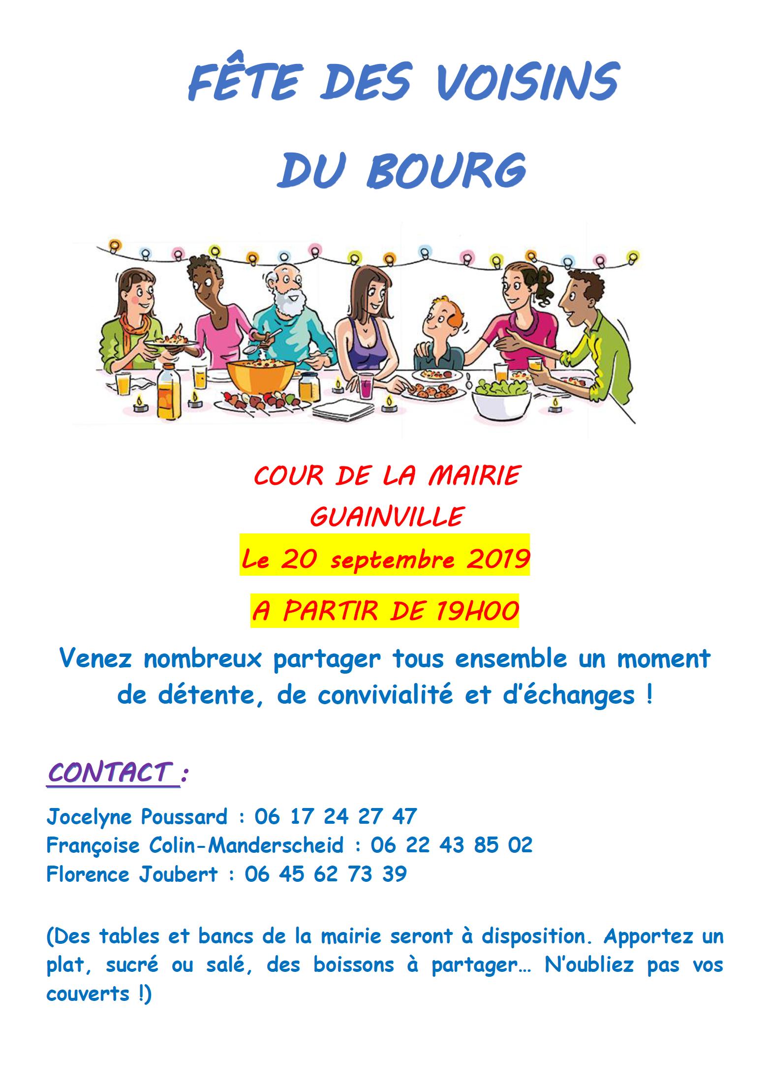 fête voisins bourg 2019