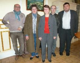 Les adjoints au maire: Nathalie VELIN, Philippe ROUBY,   Vincent SCHAAL, Jean-Marie RAOULT